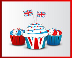 vector england cupcake