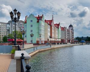 Fishers Village. Quay. Kaliningrad. Russia