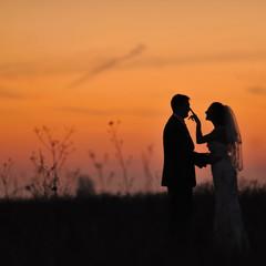 Bride and groom together.