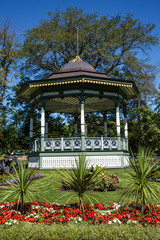 Gazebo on Hill in Garden