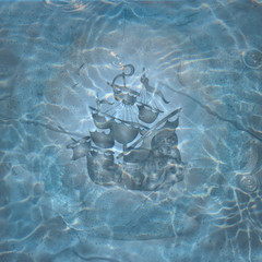 Ship image in water
