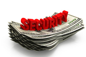 Dollar and security , business concept