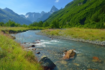 River in Caucasus