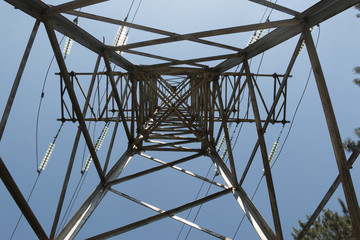 Support high voltage power lines