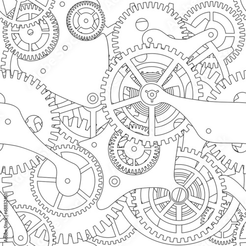 Gear vector seamless texture