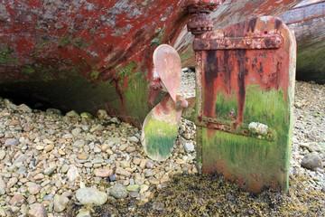 hélice de vieux bateau