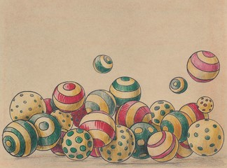 background of vintage balls