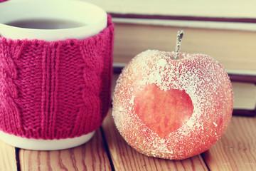 romance, apple, heart, symbol, the book