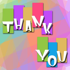 Thank You Colorful Background