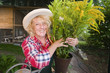 gardener hold a bunch