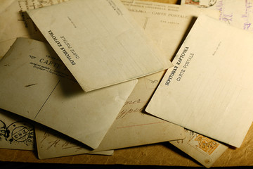 paper letter old postal stationery