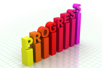 Business progress Graph.