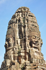 Faces of Bayon temple