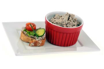 Rillettes de sardine et bouchée gourmande
