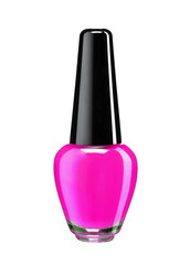 Bottle of colored nail polish