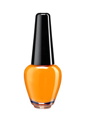 Vibrant colourful orange nail varnish