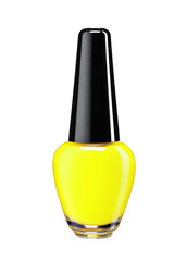 Vibrant colourful yellow nail varnish