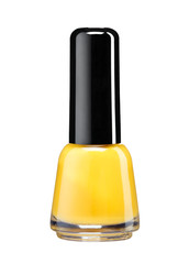 Bottle of orange nail polish