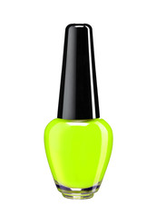Vibrant colourful green nail varnish