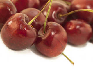 Sweet cherries as a background. close up
