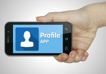 Profile app. Mobile