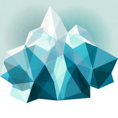 Ice mountain background