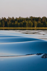 Waves on the lake
