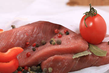 fresh meat tenderloin white packing