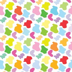 Colorful spots seamless pattern