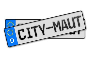 Auto Kennzeichen Ciy-Maut