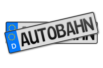 Auto Kennzeichen Autobahn