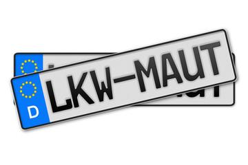 Auto Kennzeichen LKW-Maut
