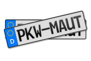Auto Kennzeichen PKW-Maut