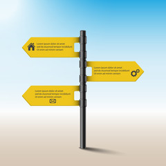 Road sign,Infographics. Vector