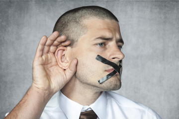 listen but do not talk