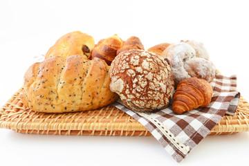 おいしそうなパンの盛り合わせ
