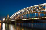 Piter the first bridge in Saint-Petersburg, Russia poster