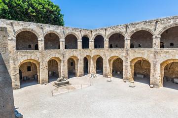 Castle of Templar knights at Rhodes