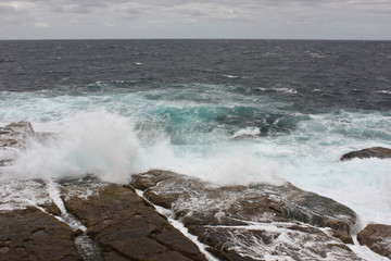 Austalian waves on beach, Sydney
