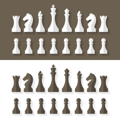 Chess pieces flat design style