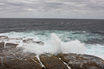 Austalian waves on beach, Sydney