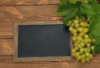 Grapes and writing board