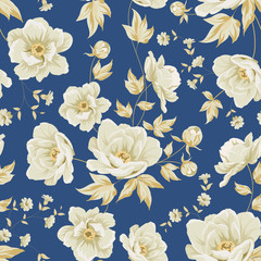 Design of vintage floral pattern.
