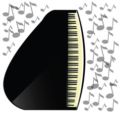 black grand piano icon