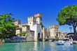 Leinwandbild Motiv scenery of Italy series - Sirmione. Lago di Garda