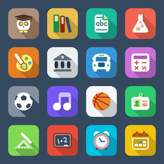 flat school iconset 1 colorful