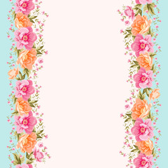 Flower pattern on a bright background for the design of fabric.
