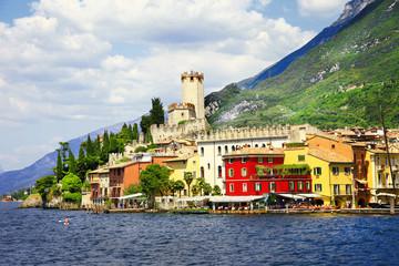 lago di Garda, Malcesine, view with castle