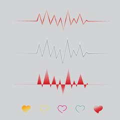 Abstract heart beats cardiogram wave