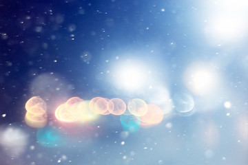 blurred glowing background snow